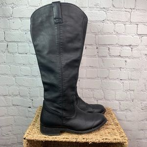 DV Dolce Vita Leather Black Tall Boots Size 7.5